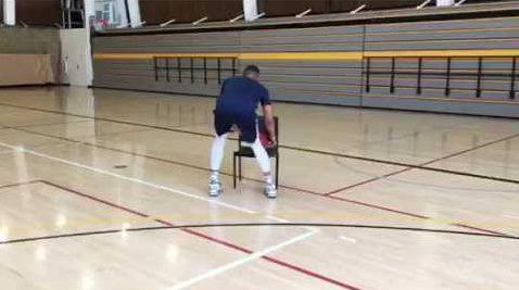 Basketball Chair Drill