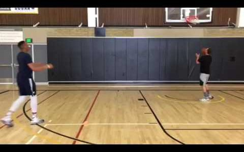 Cone to Cone Shooting Drill